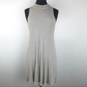 Soprano Black & White Stripe Mini Dress Size Large